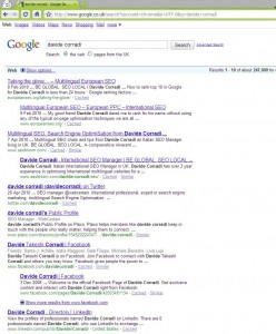 First in Google.com for Davide Corradi